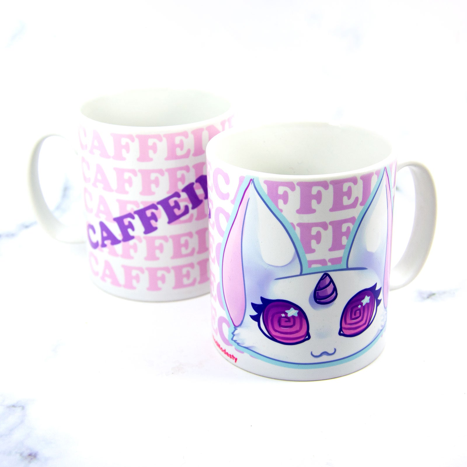 Kawaii coffee lover unicorn cat mug - MadModesty