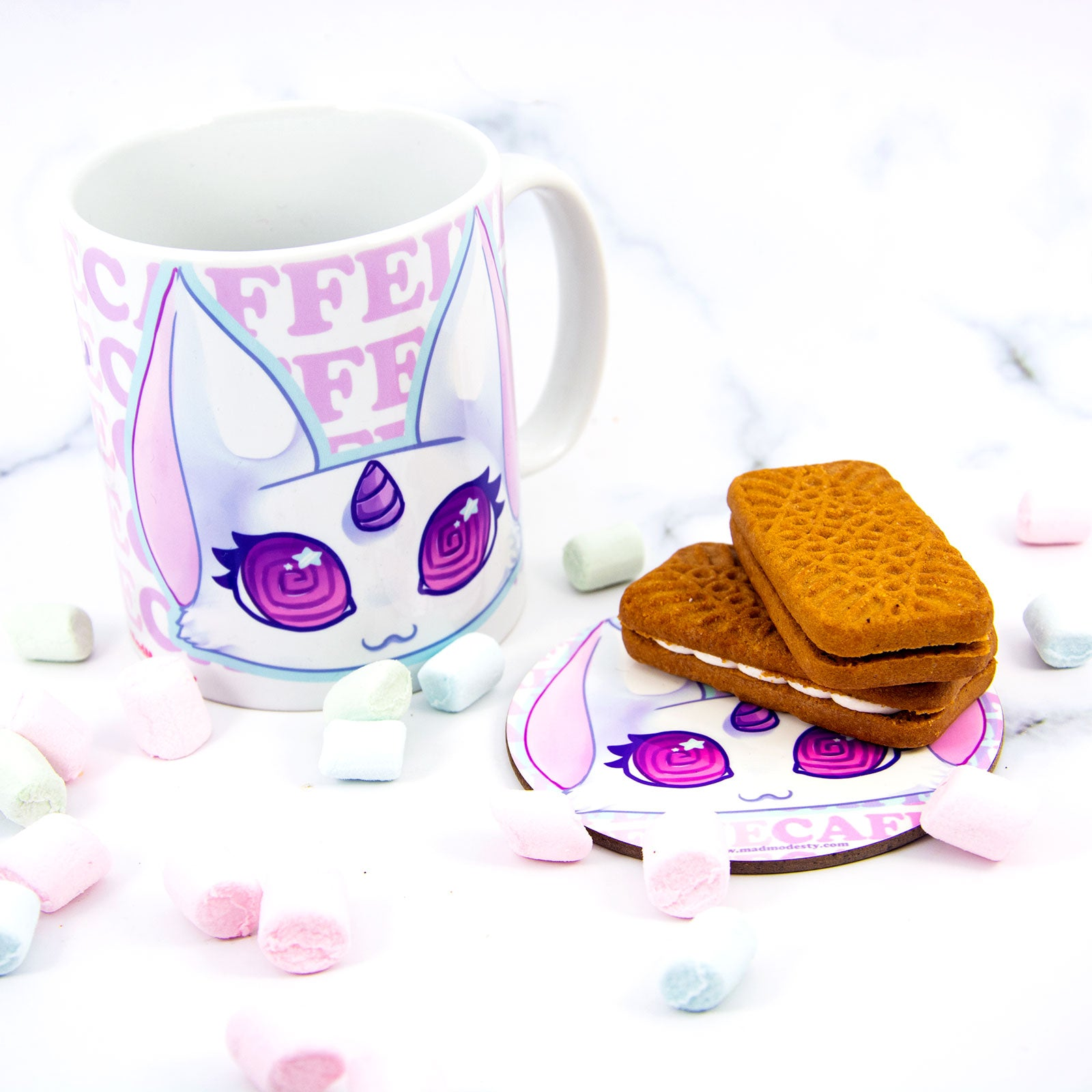 kawaii caffeine lover coffee unicorn cat mug - MadModesty