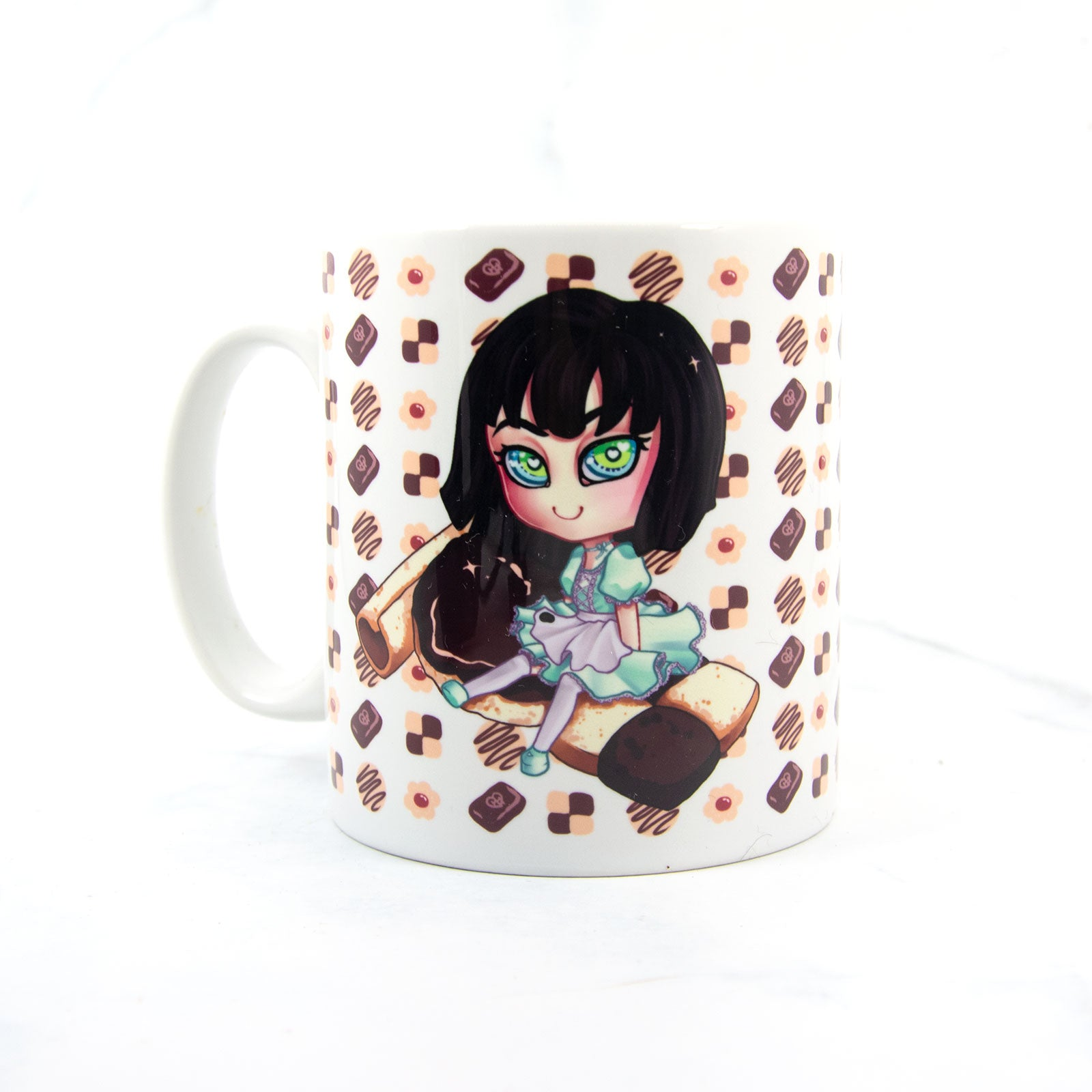 Kawaii japanese maid chibi coffee cup - MadModesty