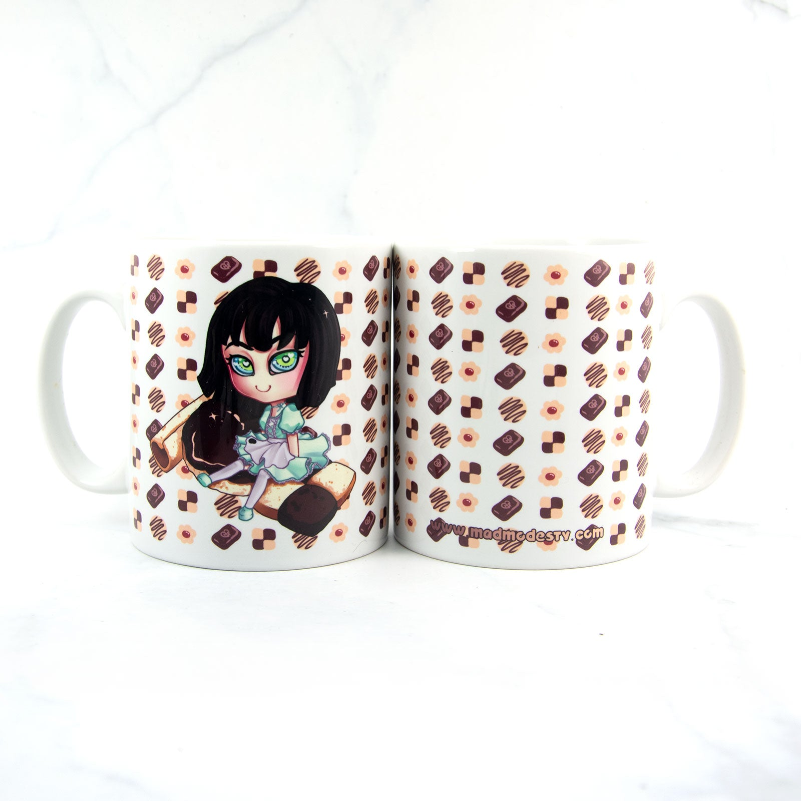 cute coffee chibi art cup - MadModesty