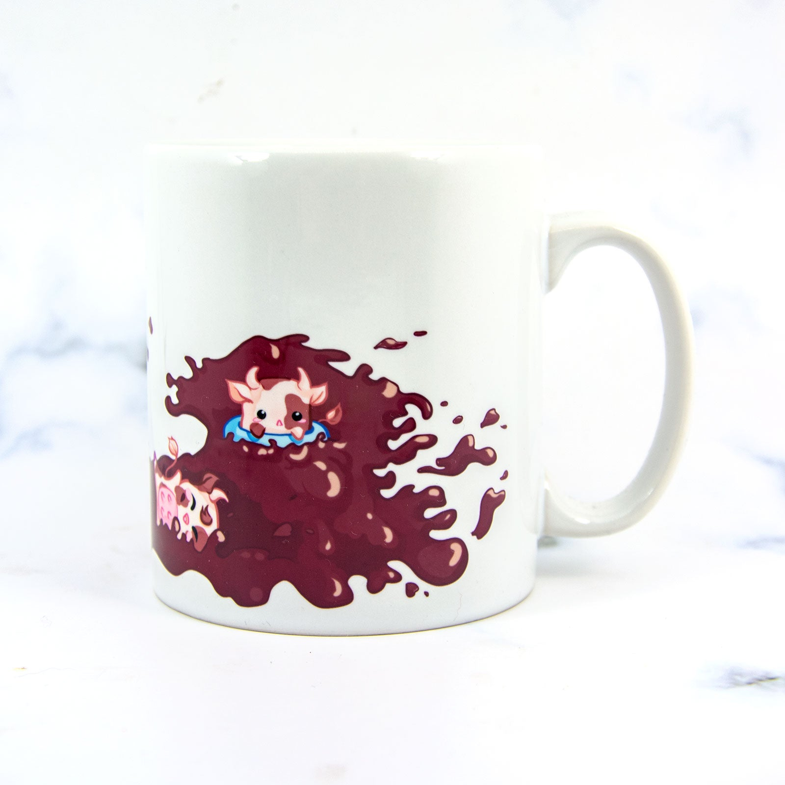 Chocolate cow cute Birthday mug - MadModesty