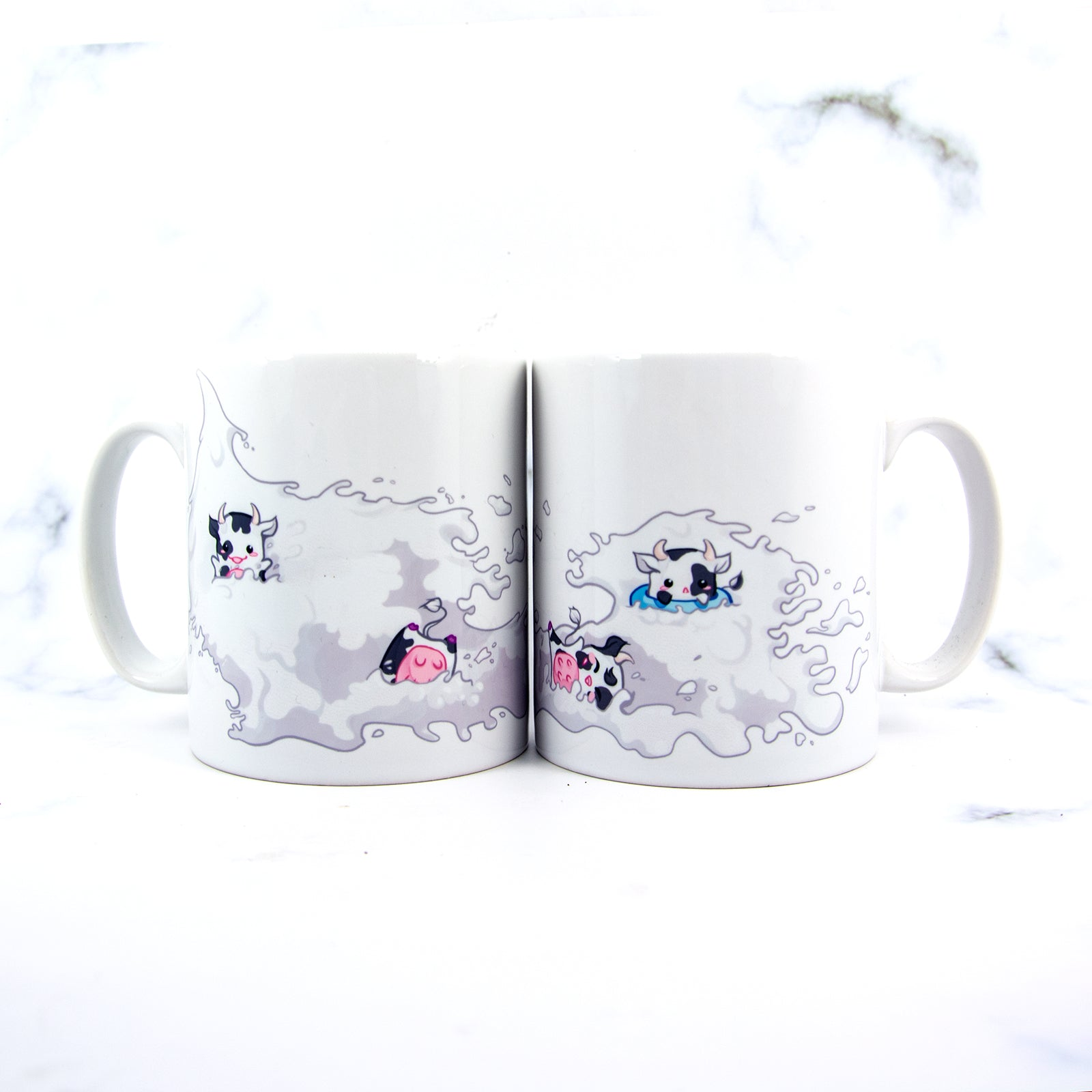 Kawaii chibi animal cow party mug - MadModesty