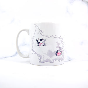 Kawaii chibi cow swimming pool party mug - MadModesty