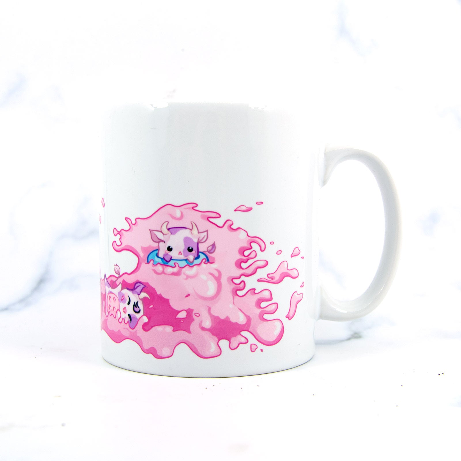 Strawberry milk cows mug