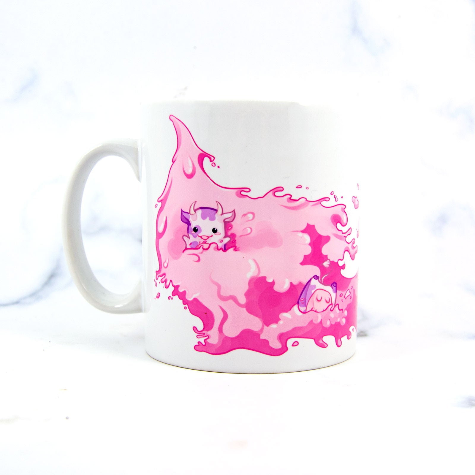 Strawberry milk cows mug - MadModesty