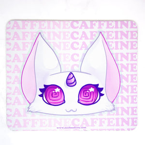 Kawaii coffee addict anime cat mousepad - MadModesty