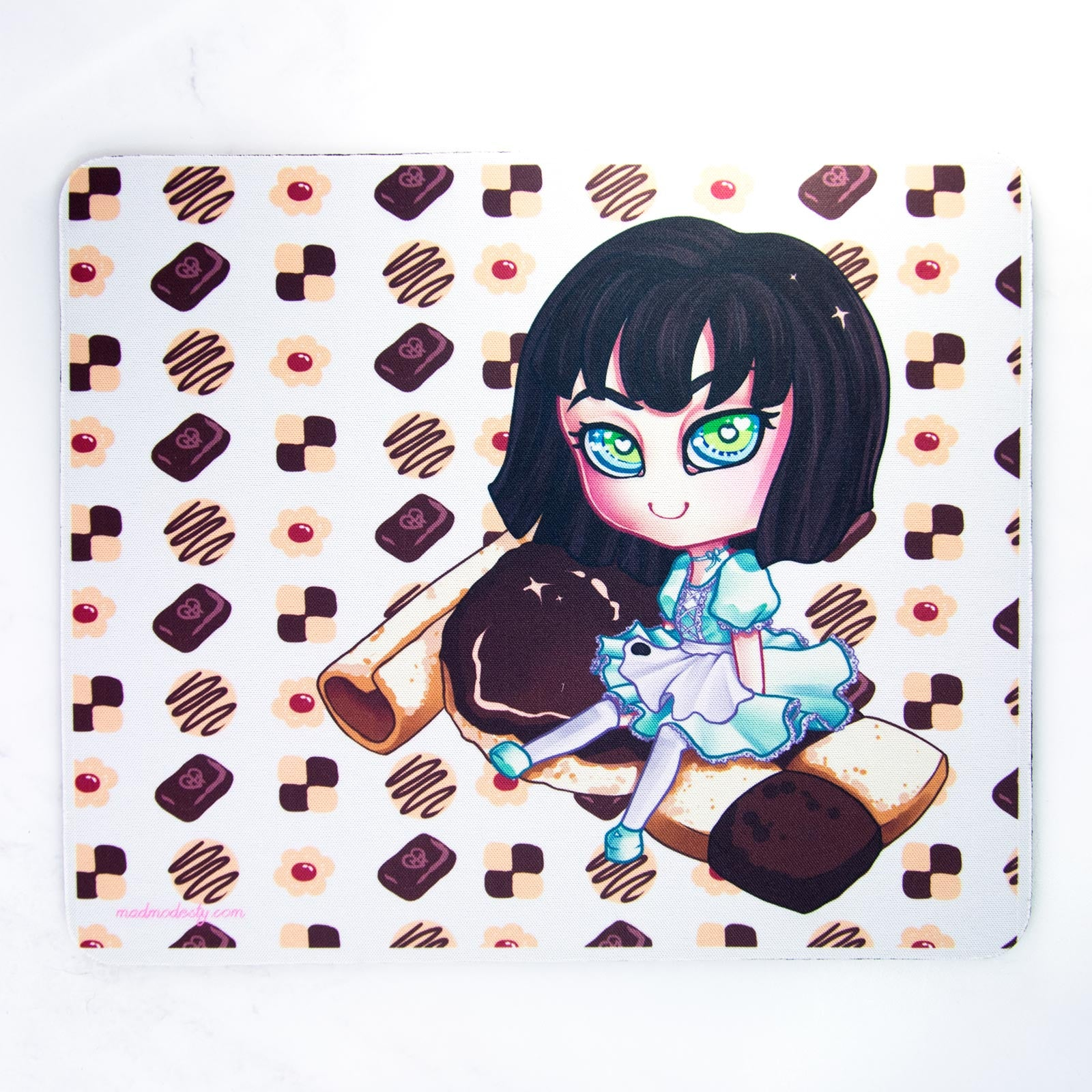 Cute chibi office mouse mat gift - MadModesty