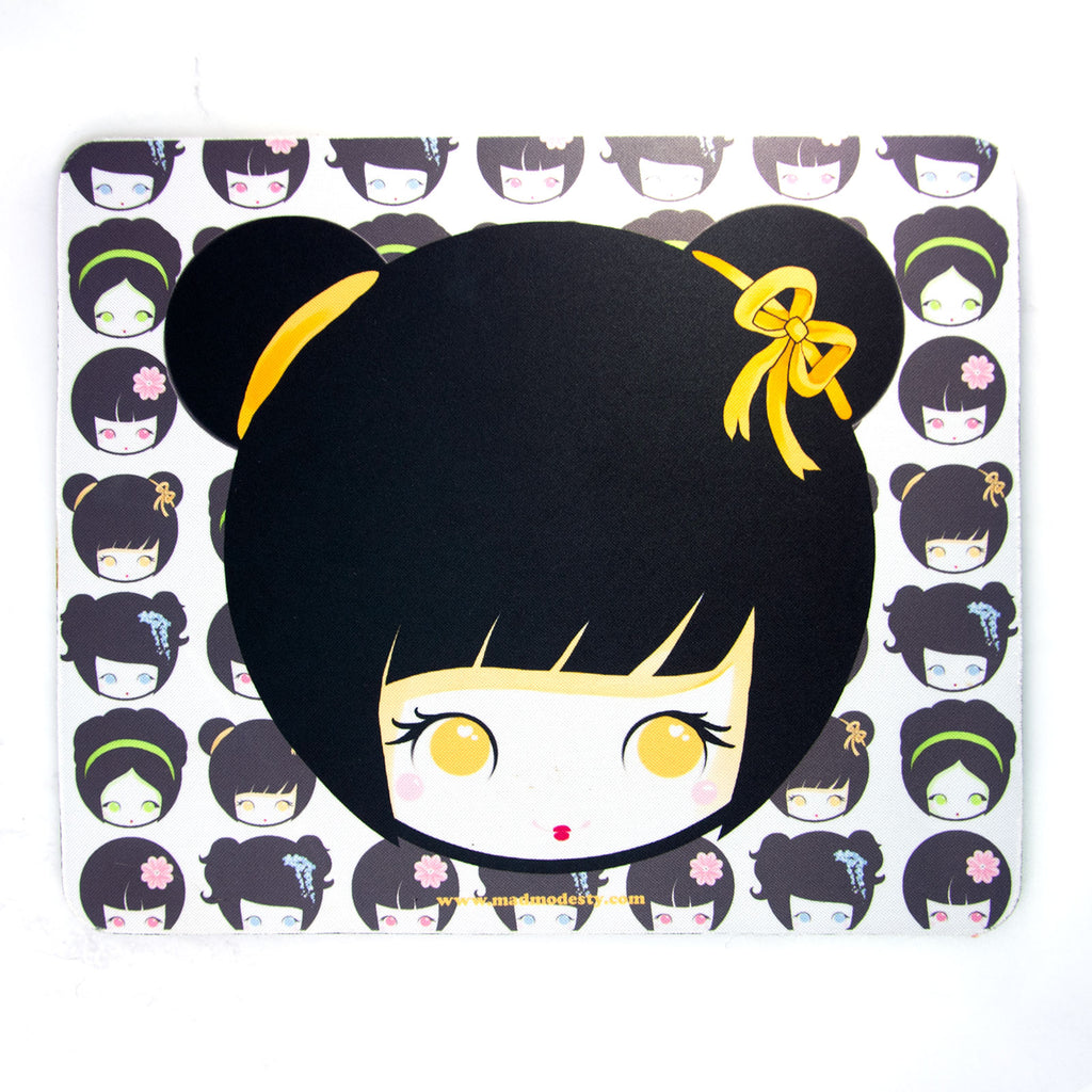 Classic japan Kokeshi doll Mouse mat - MadModesty