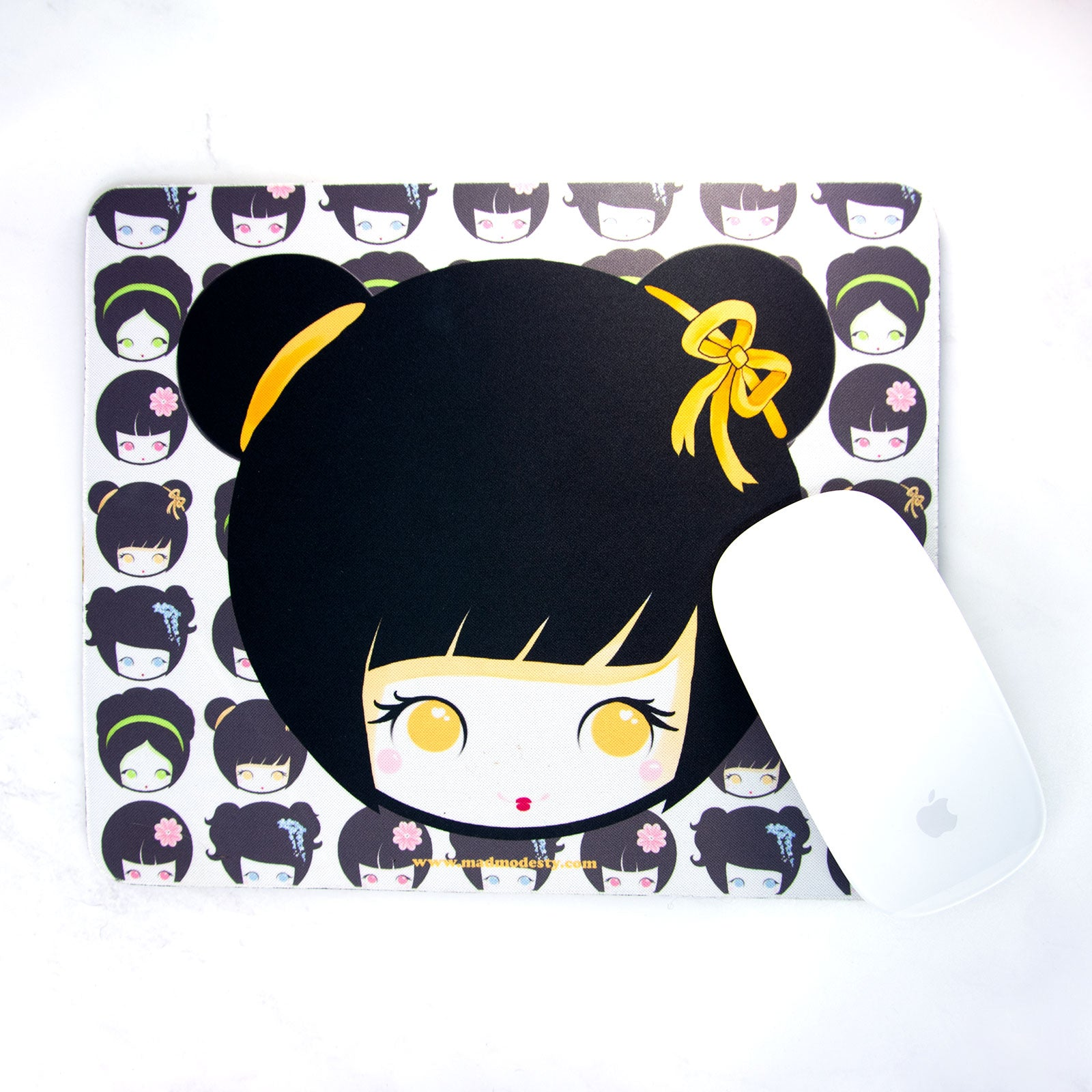 Kawaii anime Kokeshi doll Office Mouse mat - MadModesty