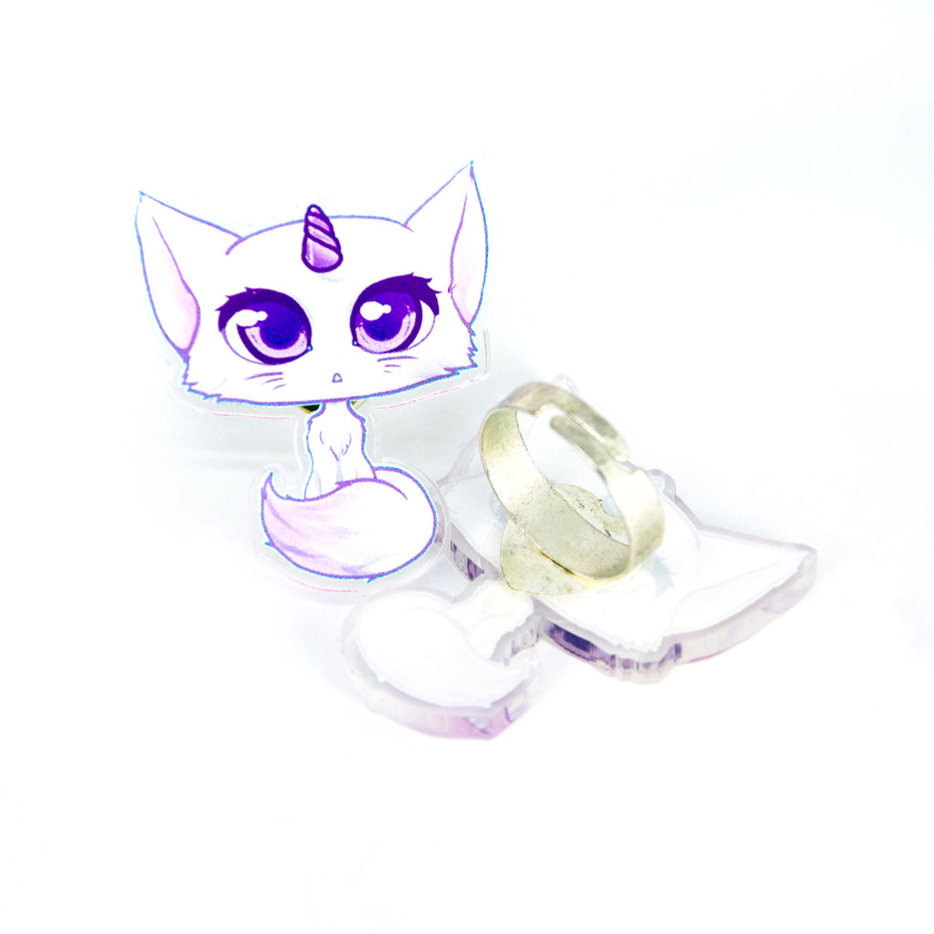 Unicorn cat ring