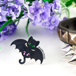 kawaii pastel goth bat cat ring - MadModesty