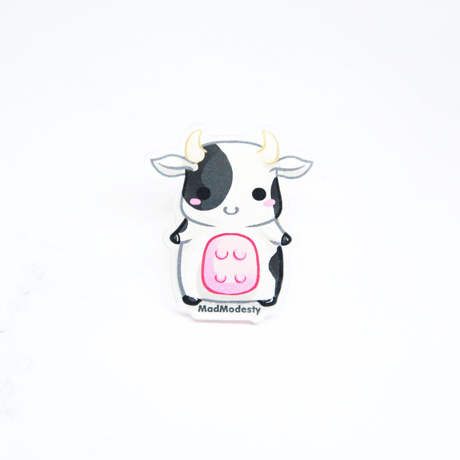 Kawaii chibi animal acrylic cow ring - MadModesty