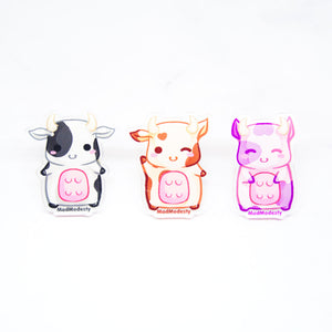 kawaii chibi cow ring farm animal accessory gift - MadModesty