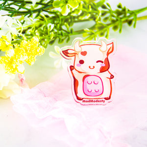 Brown baby kawaii chibi cow accessory gift - MadModesty