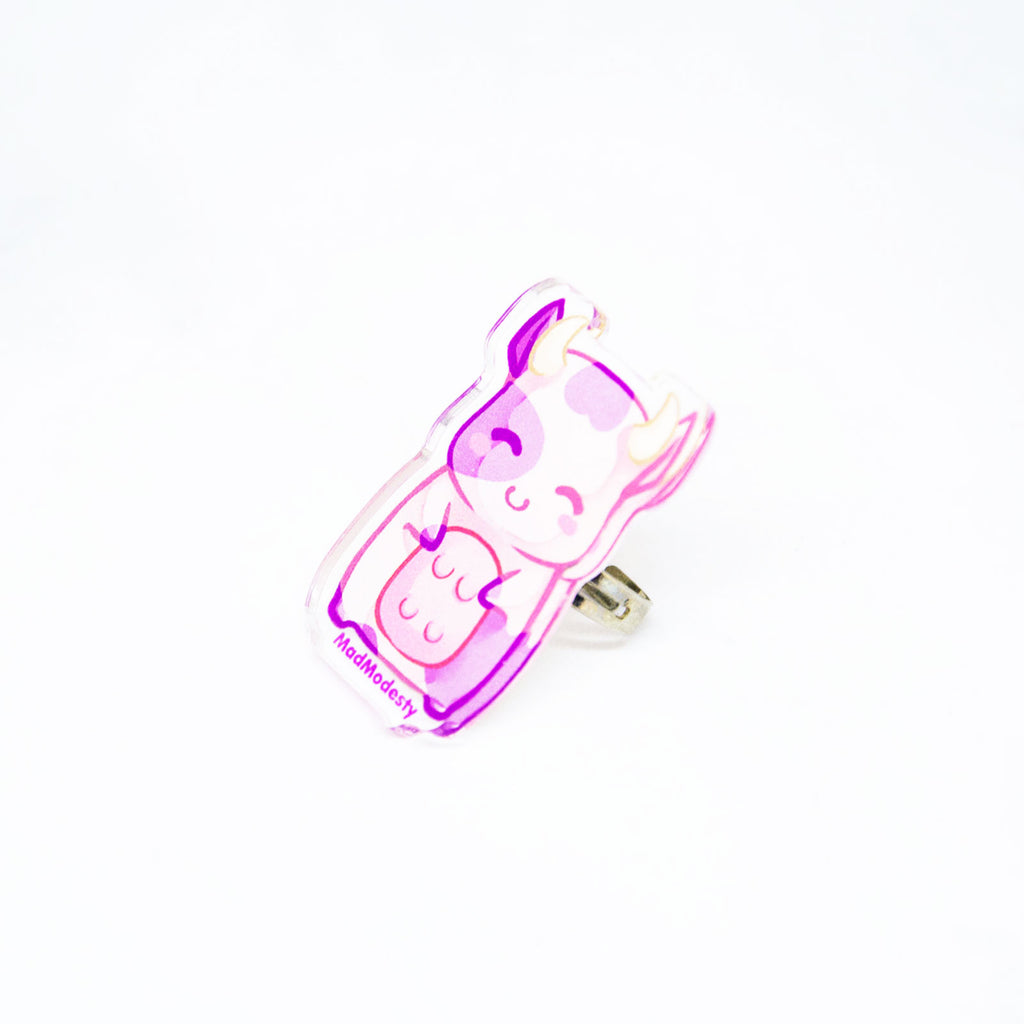 Pink cow ring - MadModesty
