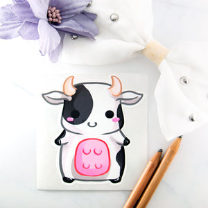 Chibi cow sticker