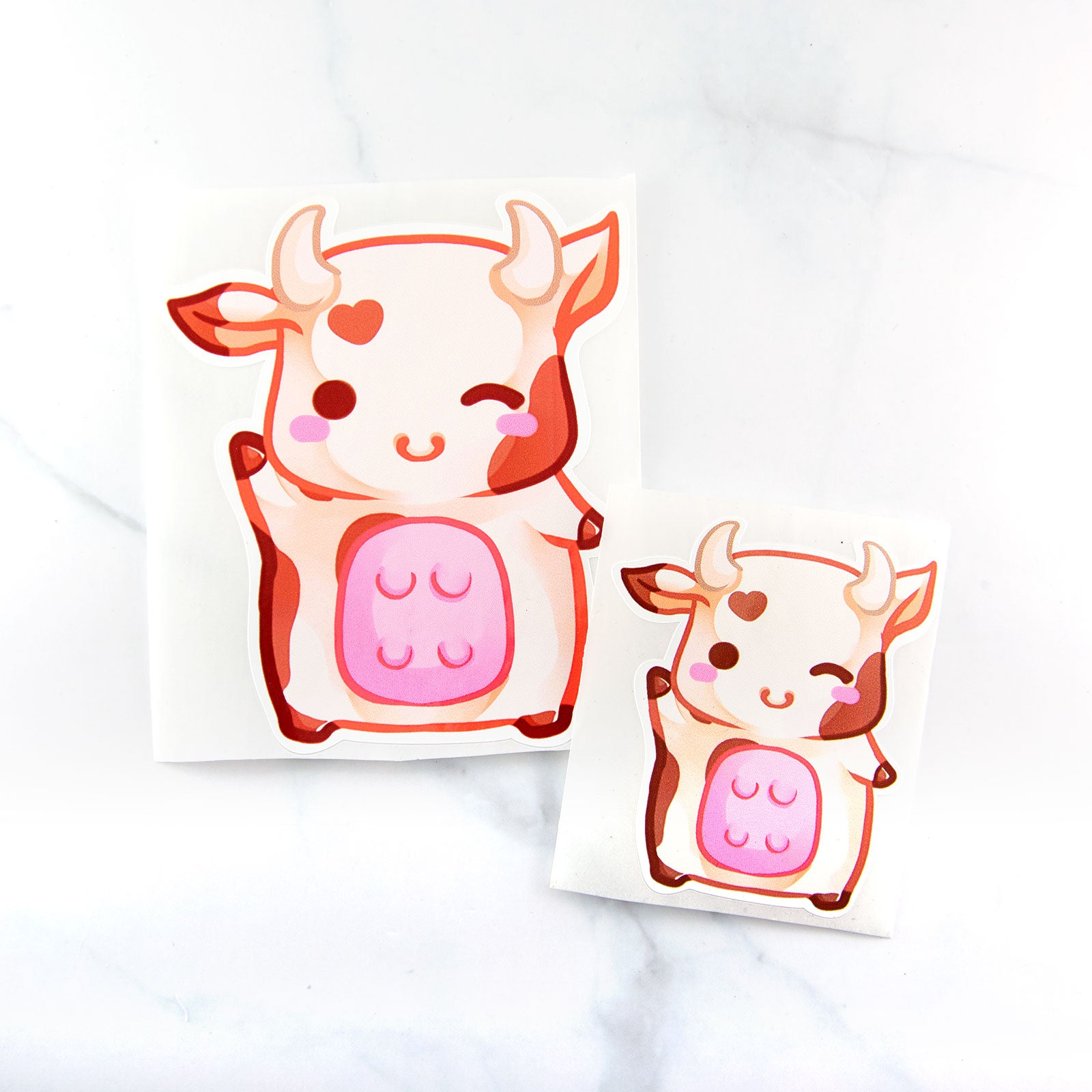 Cute planner stationery cow sticker - MadModesty