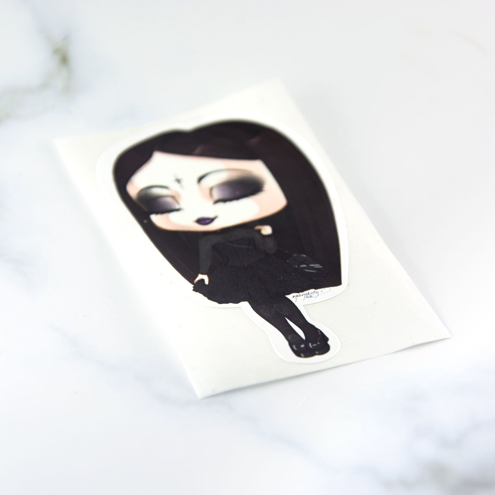 Classic gothic lady fashion sticker - MadModesty