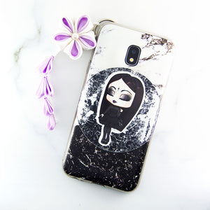 Cute chibi elegant goth girl fashion sticker art - MadModesty