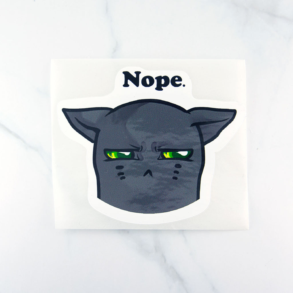 nope grumpy cat sticker decal sarcasm - MadModesty