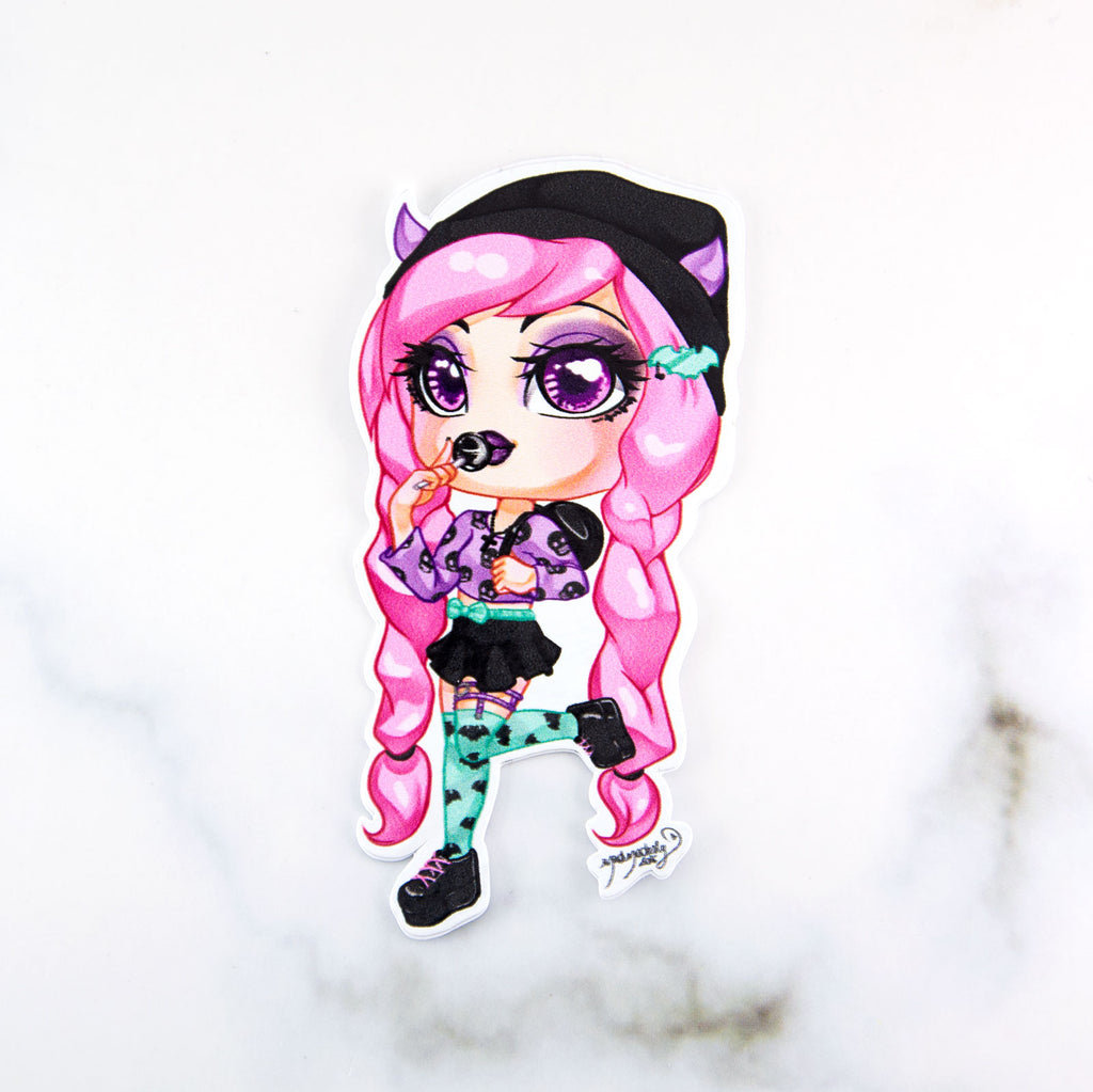 kawaii pastel goth chibi girl sticker - MadModesty