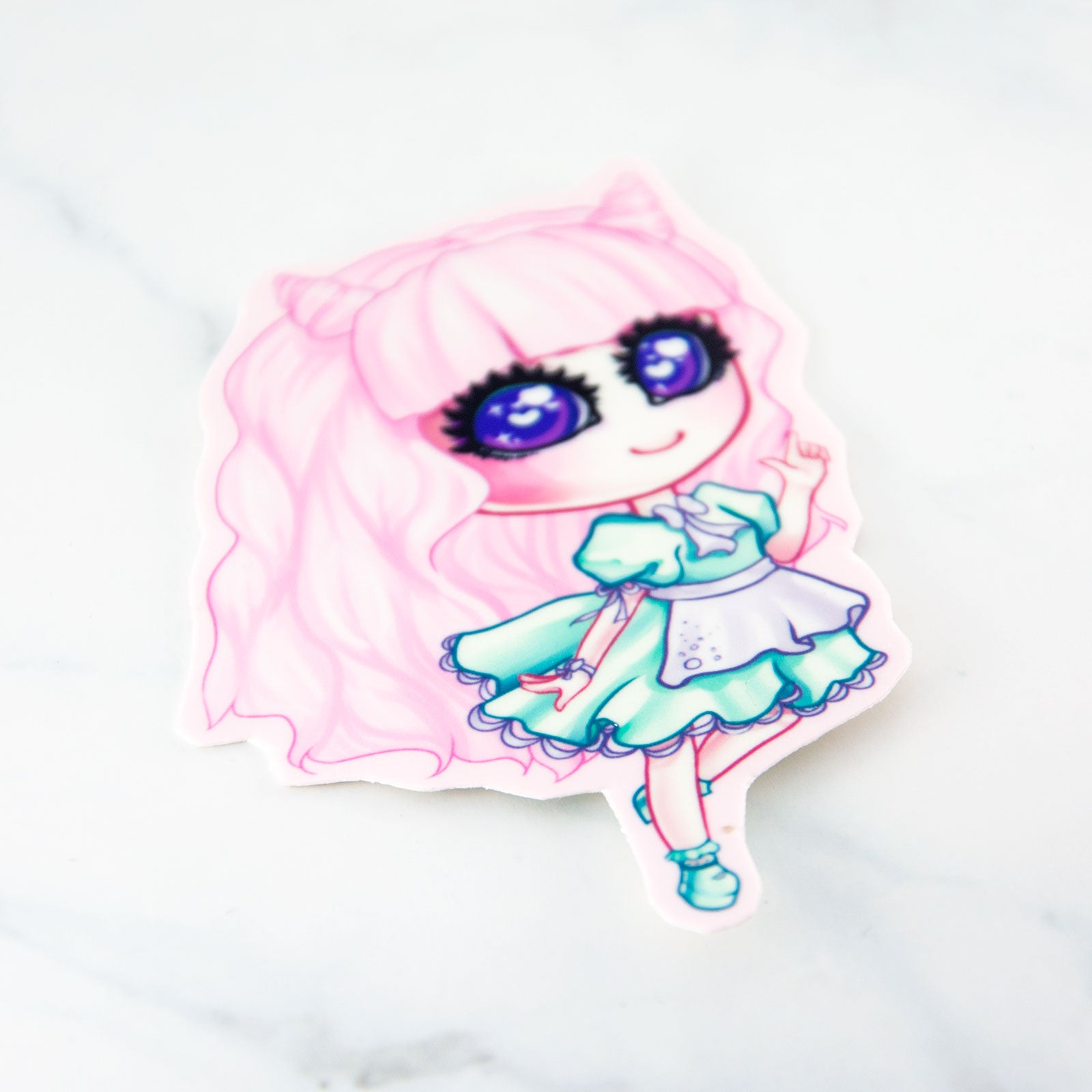 Kawaii fairy kei pastel fashion girl pink sticker - MadModesty