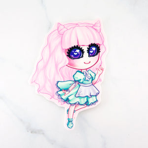fairy kei pastel fashion girl pink sticker - MadModesty