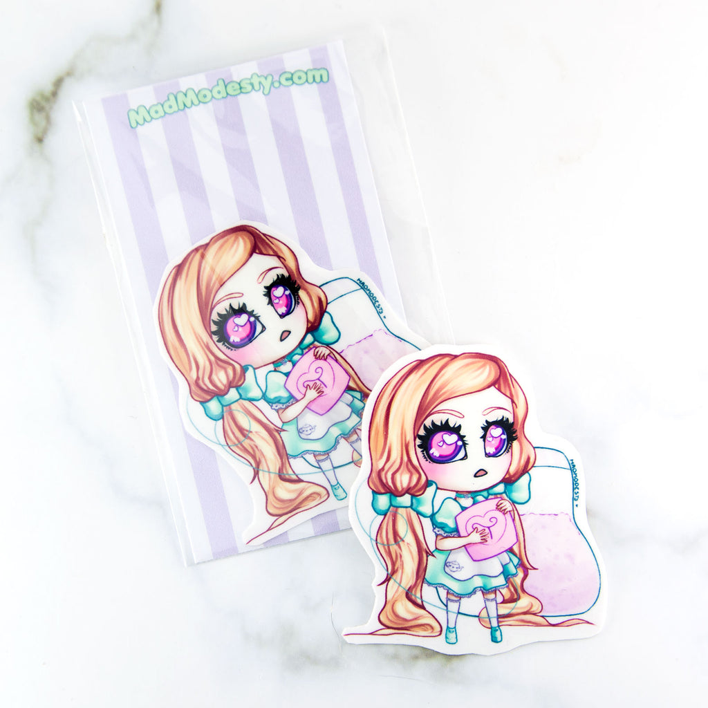 Kawaii lolita manga chibi maid sticker - MadModesty