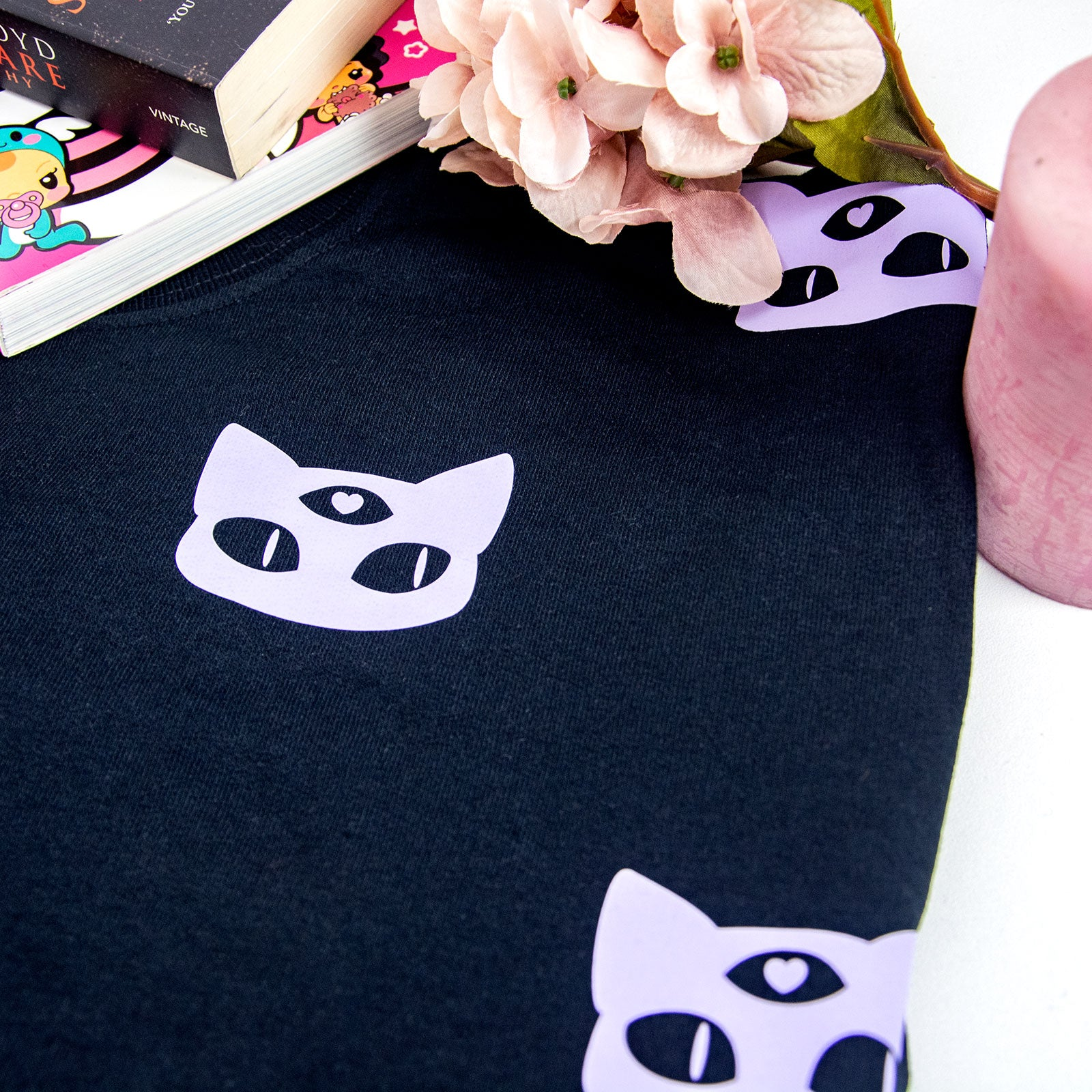pastel goth creepy cute alien cat fashion sweater - MadModesty