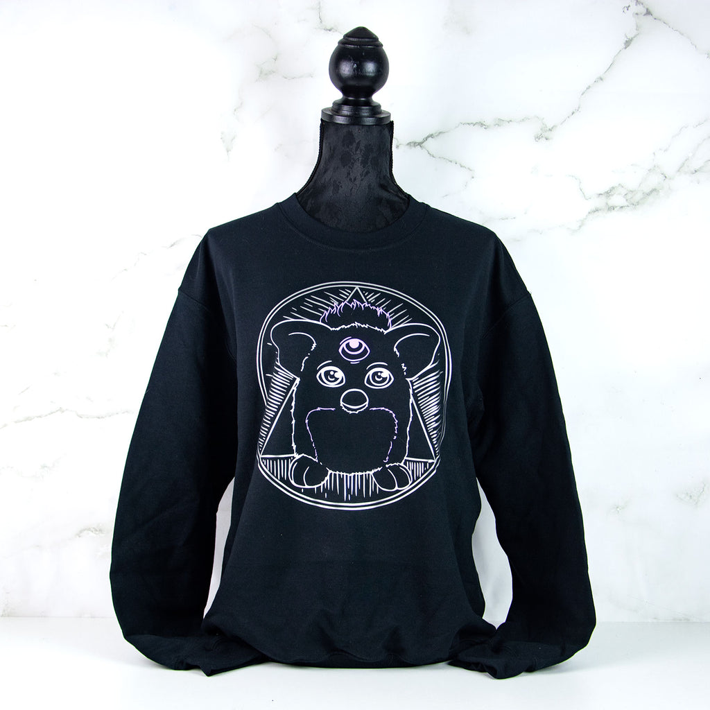 Illuminati Furby 90s toy clothing sweater - MadModesty