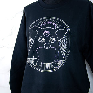Pastel goth Furby sweater- 90s toy clothing - MadModesty
