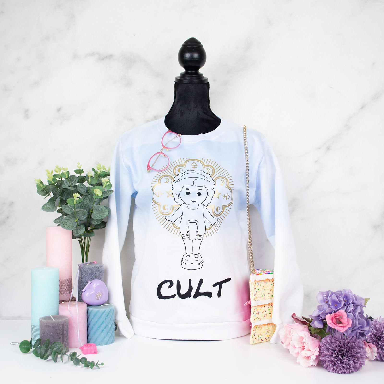 "Polly Pocket ""CULT"" sweater"