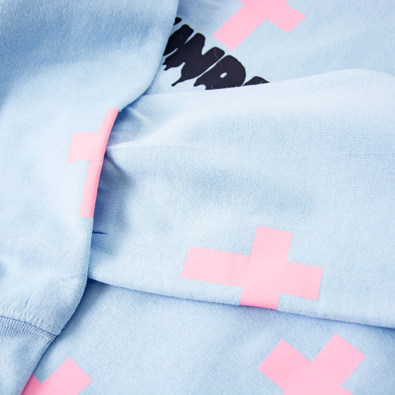 "Pink and blue ""undercover goth"" sweater"
