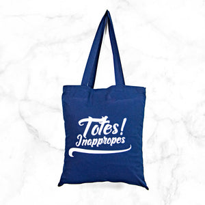 Punny tote bag with sassy text