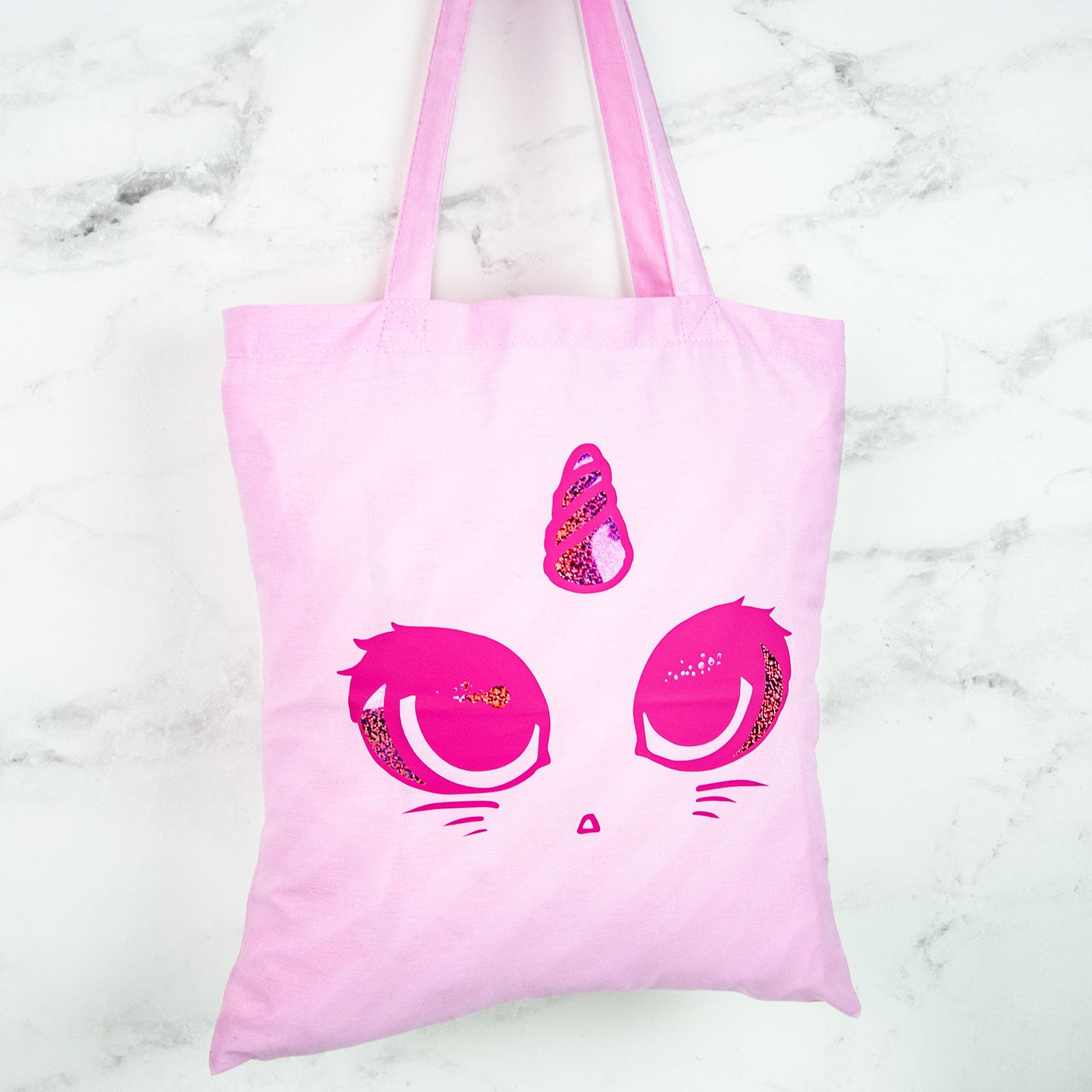 Holographic unicorn cat tote bag - MadModesty
