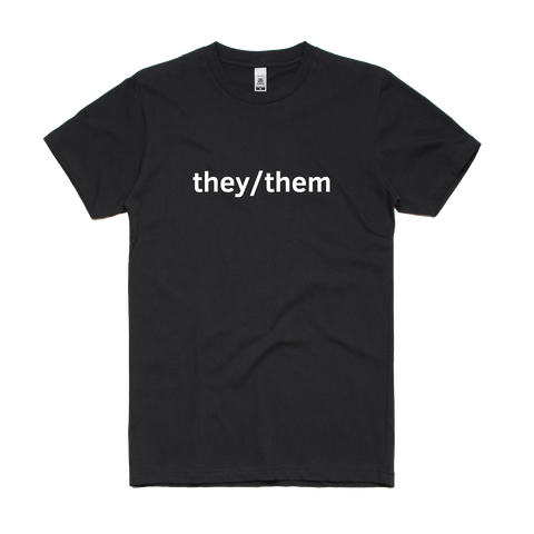Black They/Them T-Shirt