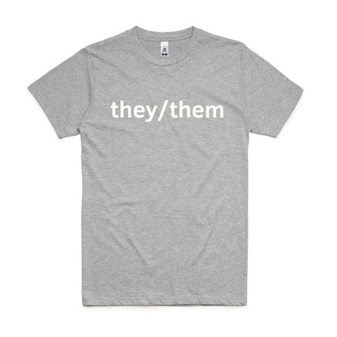 Grey They/Them T-Shirt