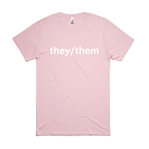 Pink They/Them T-Shirt