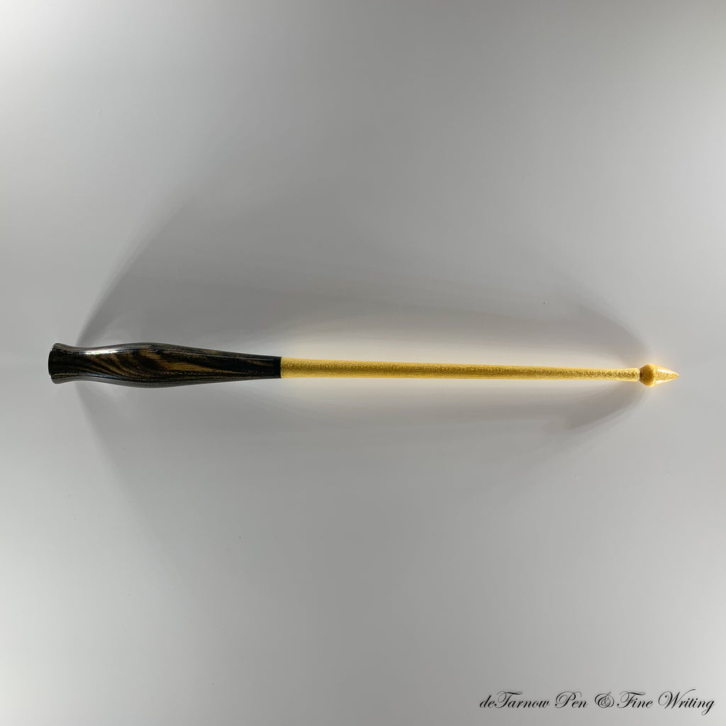 Yellow Heart and Ebony Oblique Pen Holder