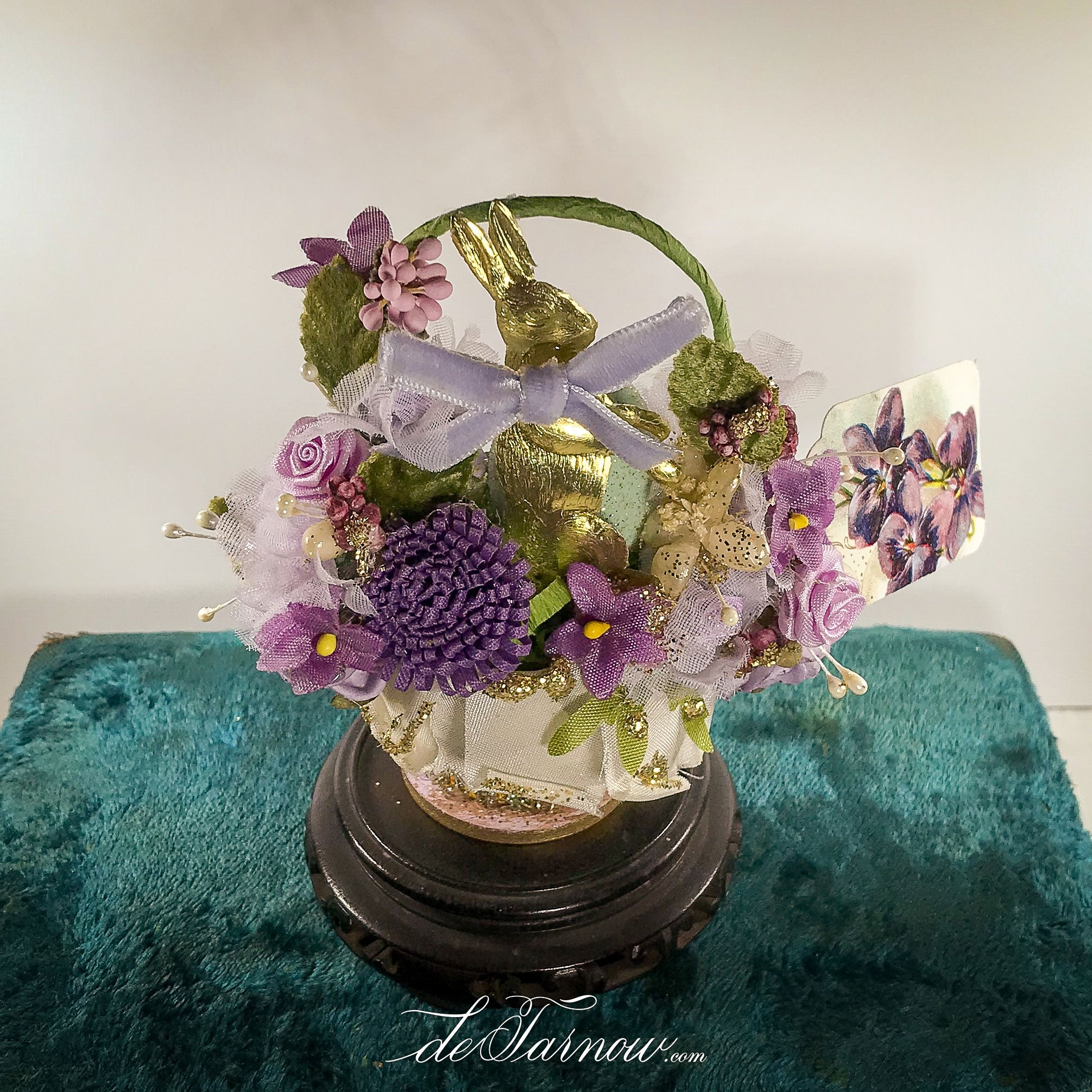 Rabbit Springtime Basket in shades of Violet