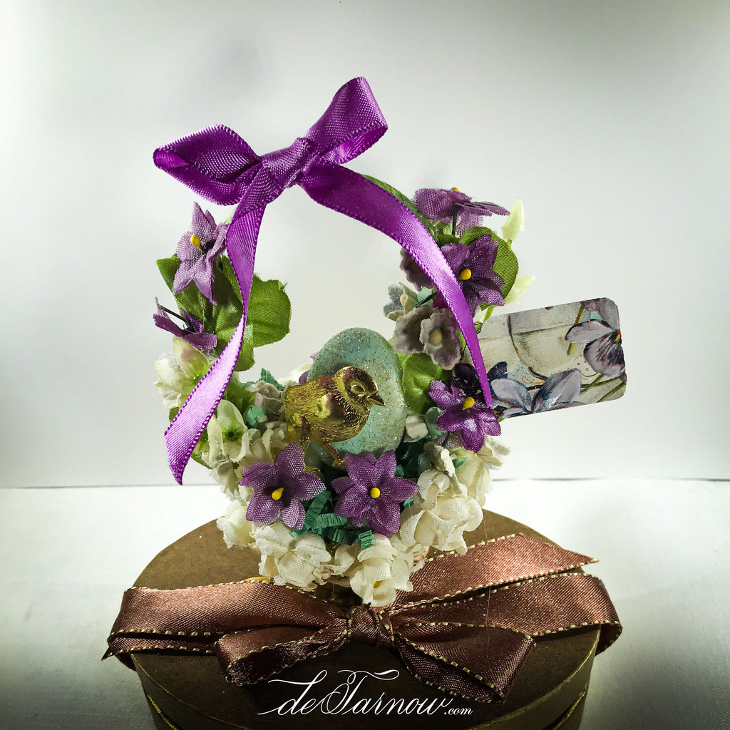 Little Chick Springtime Basket in shades of Violet