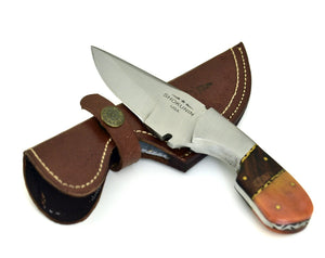 HUNTING knife, HAND FORGED D2 Steel Hunting Knife Camping Utility tactical knife walnut wood handle - SHOKUNIN USA