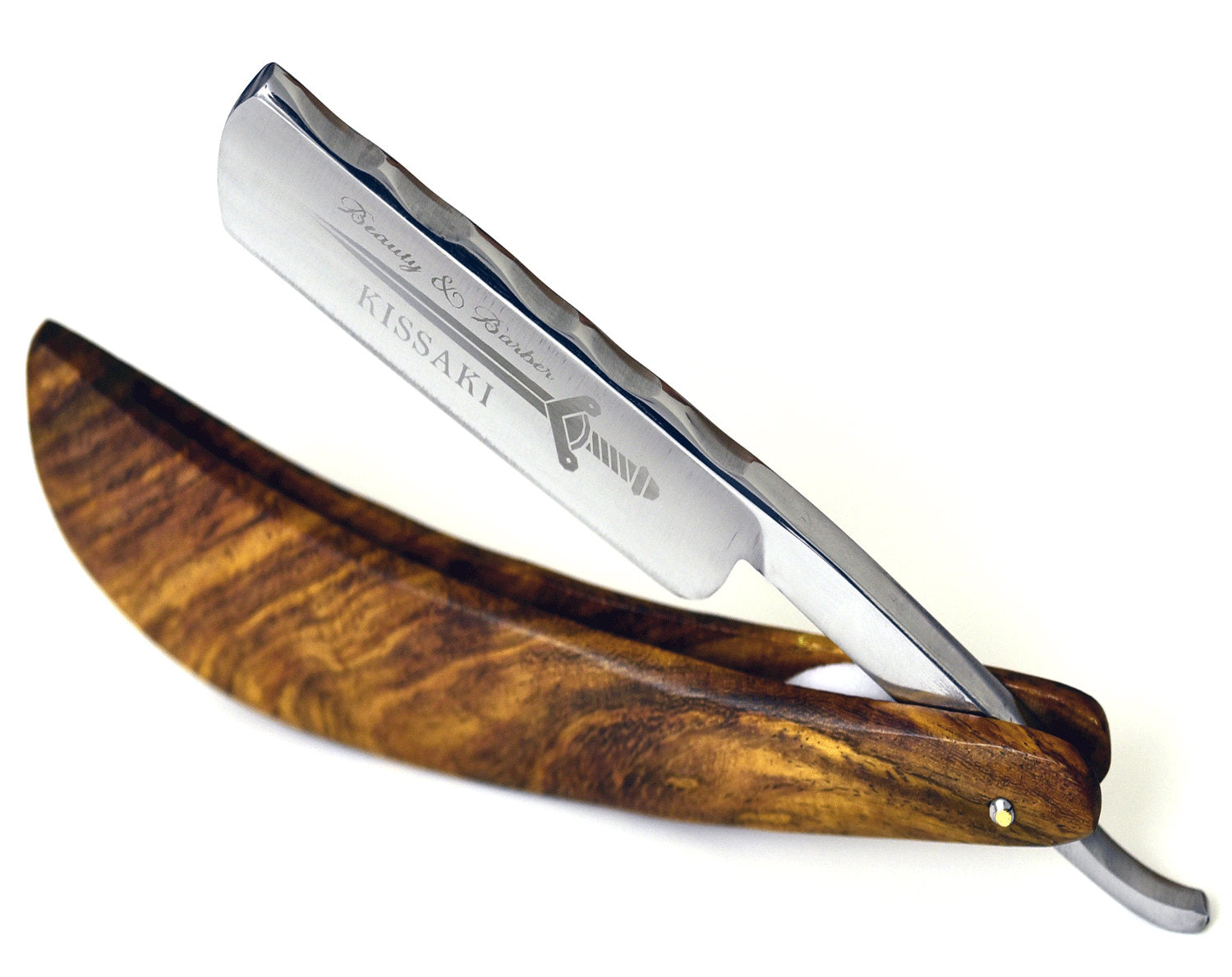 Personalize Straight Razor By B&B/high speed steel/Rosewood wood handle/Shaving Razor/straight edge razor cutthroat - SHOKUNIN USA