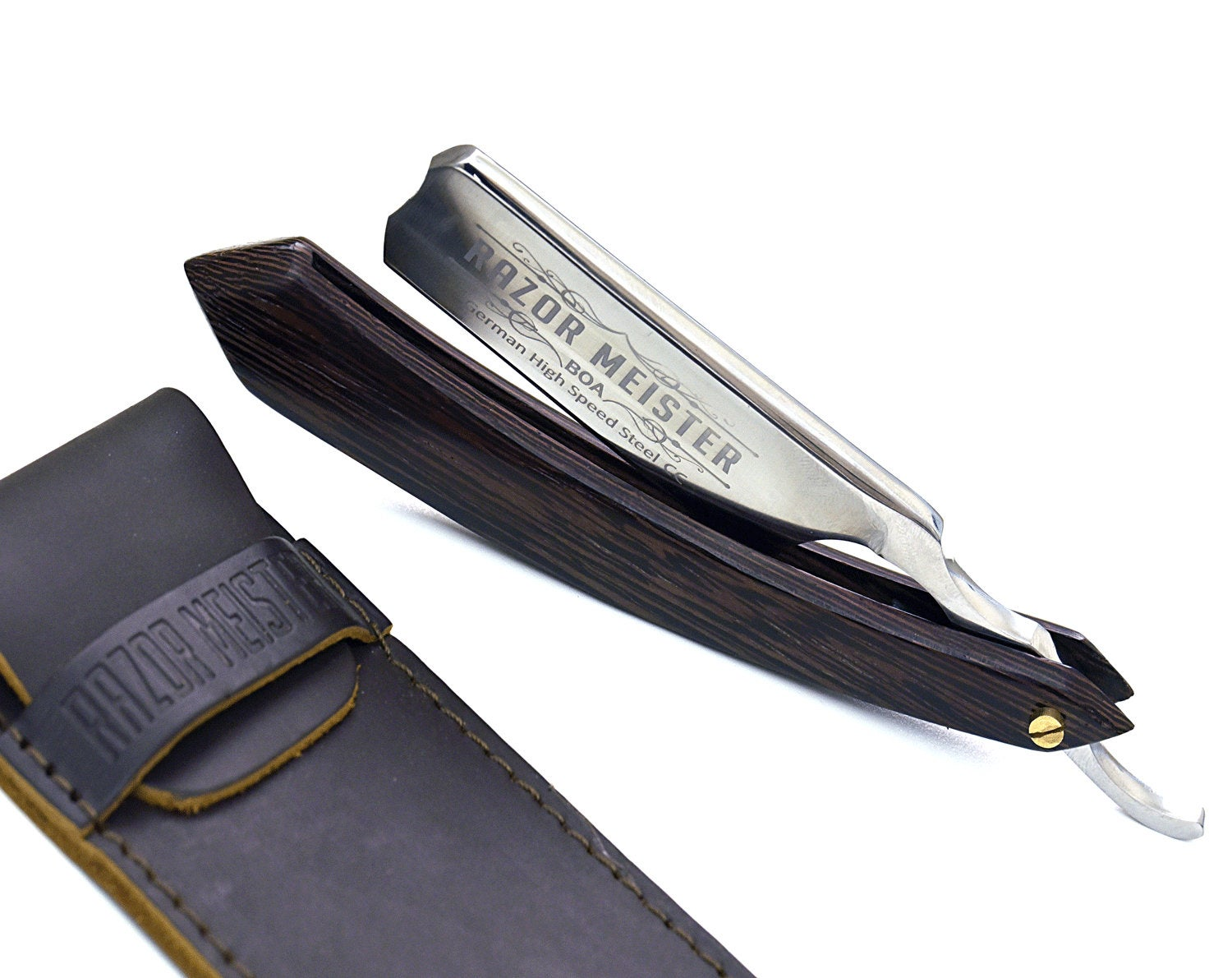Personalize Straight Razor By B&B/German high speed steel/Wenge wood handle/Shaving Razor/straight edge razor cutthroat Gift - SHOKUNIN USA