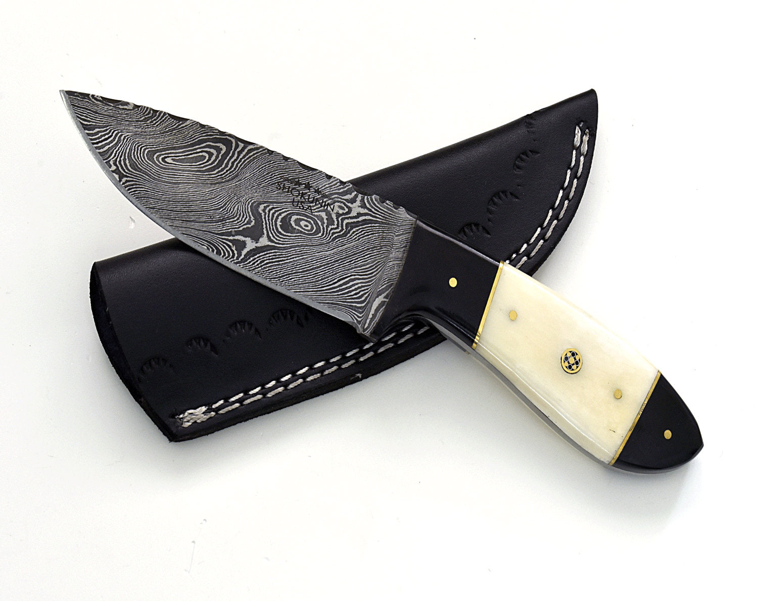 "9.0"", Damascus knife with Composite handle hunting/tactical/survival/custom/personalize Damascus steel knife - SHOKUNIN USA"