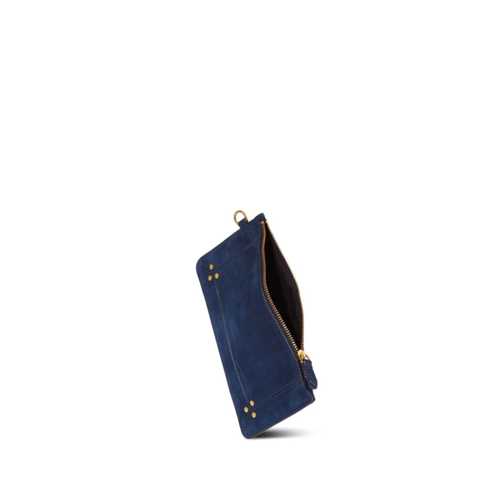 Elegant taurillon popoche in marine navy  Zip top closure