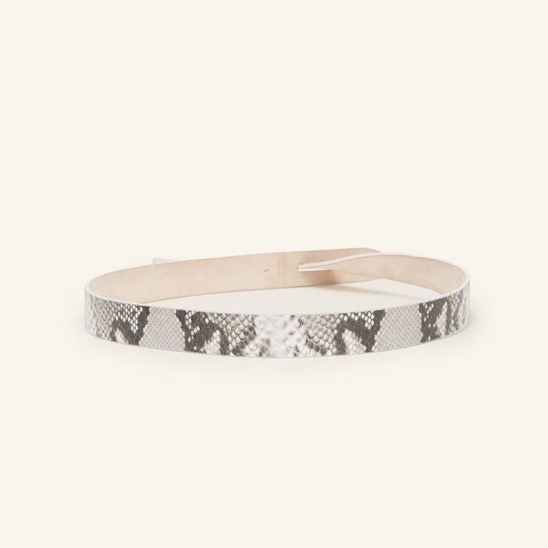 Isabel Marant Lecce Leather Belt - Chalk Snake