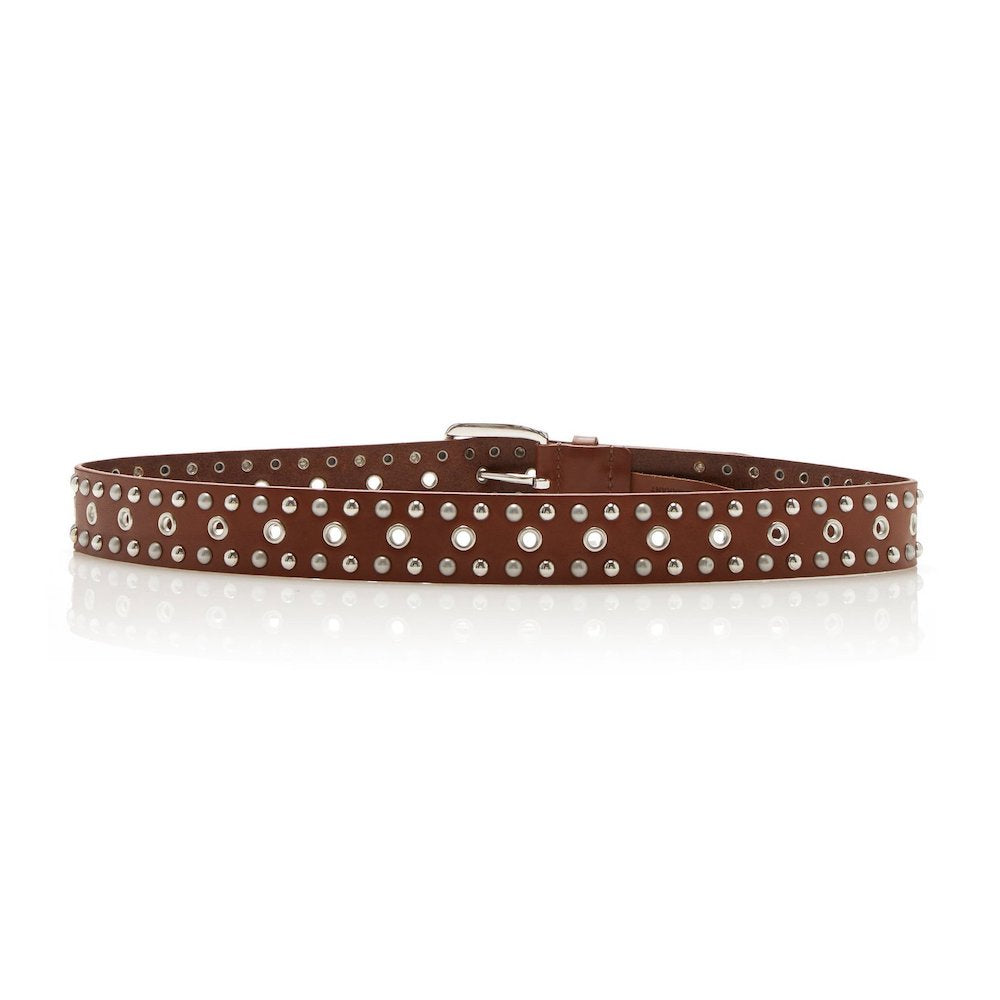 Isabel Marant Rica Studded Belt in Brown
