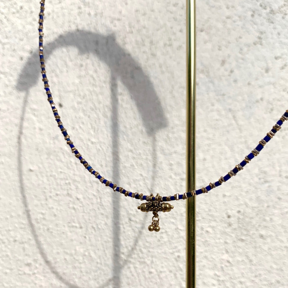 Marie Laure Chamorel Lapis & Gold Necklace