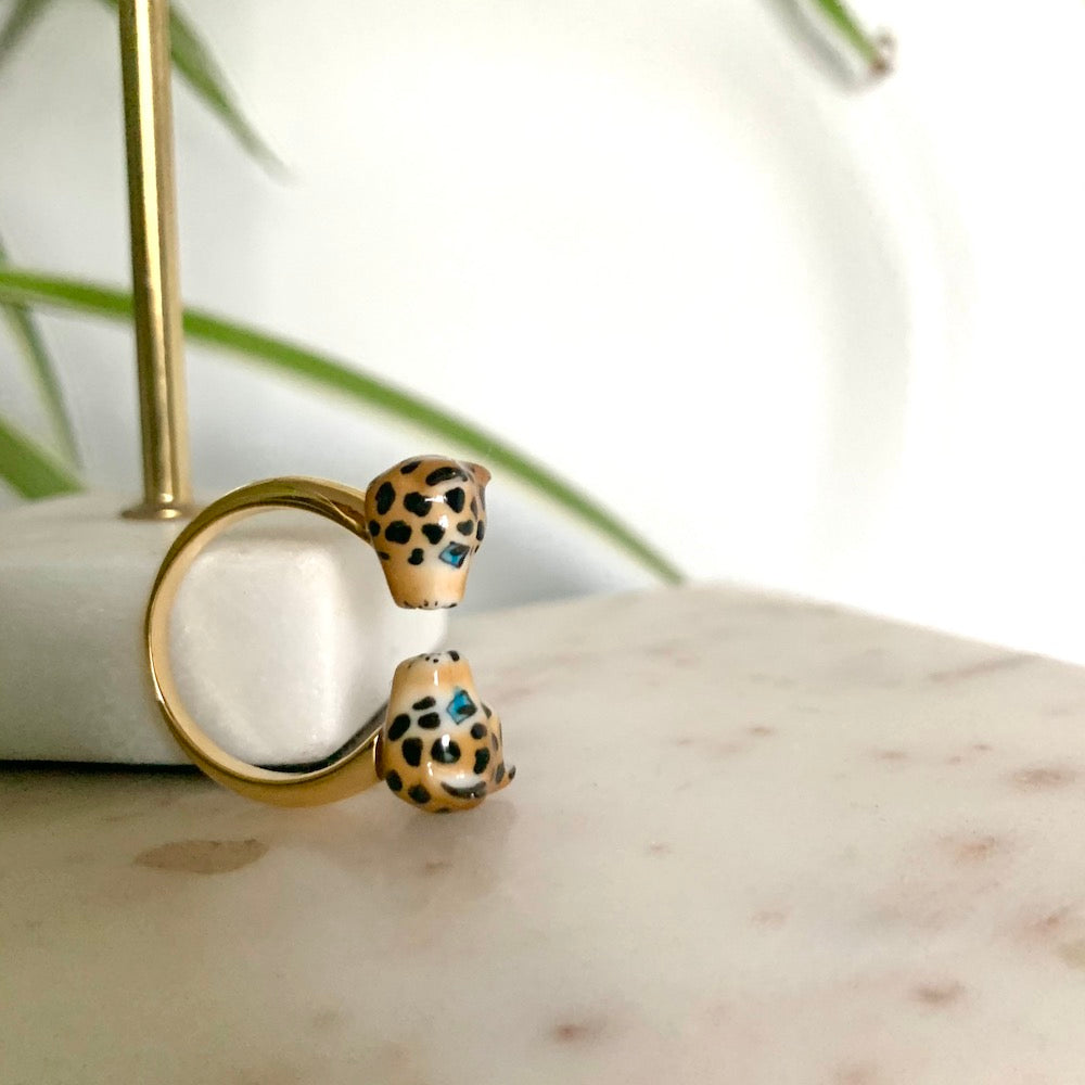 Nach Face to Face Leopard Ring 2